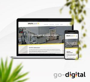 Portfolio Teaser von DRUFA - Website auf displays